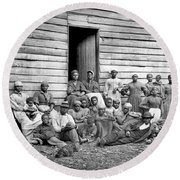 Civil War: Freed Slaves Round Beach Towel