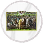 Civil War Generals And Statesman Round Beach Towel