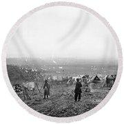 Civil War: Nashville, 1864 Round Beach Towel