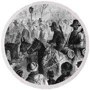 Civil War: Prisoner, 1864 Round Beach Towel