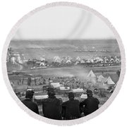 Civil War: Union Camp, 1862 Round Beach Towel
