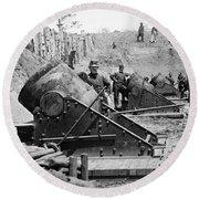 Civil War: Union Mortars Round Beach Towel