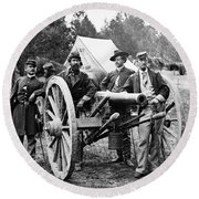 Civil War: Union Officers Round Beach Towel