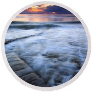 Civilization Forgotten Round Beach Towel