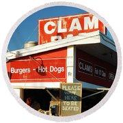 Clam Bar, East Hampton Round Beach Towel