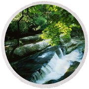 Clare Glens, Co Clare, Ireland Round Beach Towel