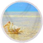 Clarity, Simplicity Round Beach Towel