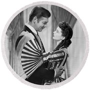 Clark Gable And Vivien Leigh Round Beach Towel