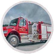 Clarks Chapel Fire Rescue - Engine 1351, North Carolina Round Beach Towel