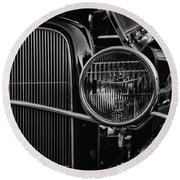 Classic American Ford Coupe Round Beach Towel