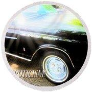 Classic Automobile, Auto Eroticism Round Beach Towel