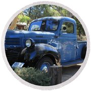 Classic Automobile Round Beach Towel