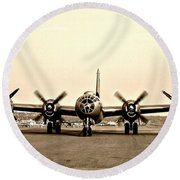 Classic B-29 Bomber Aircraft Round Beach Towel