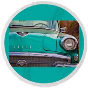 Classic Buick Round Beach Towel by Mamie Thornbrue