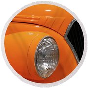 Classic Car Details Round Beach Towel