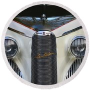 Classic Car Front End Round Beach Towel