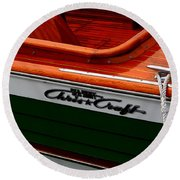 Classic Chris Craft Sea Skiff Round Beach Towel