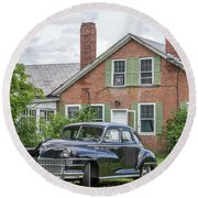 Classic Chrysler 1940s Sedan Round Beach Towel