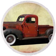 Classic Dodge Pickup Truck Round Beach Towel