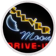 Classic Drive In Round Beach Towel