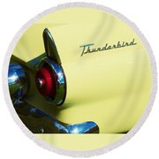 1955 Ford Thunderbird Round Beach Towel