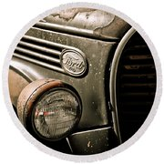 Classic Ford Truck Round Beach Towel