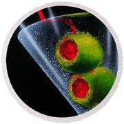 Classic Martini Round Beach Towel by Michael Godard
