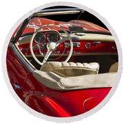 Classic Mercedes Benz 190 Sl 1960 Round Beach Towel