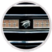 Classic Mercury Grill Emblem Round Beach Towel