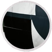 Classic Military Aircraft Abstract- Star 2 Round Beach Towel