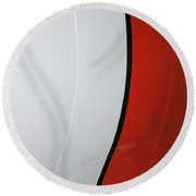 Classic Military Aircraft Abstract- Striping 3 Round Beach Towel