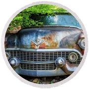 Classic Old Cadillac Round Beach Towel