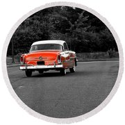 Classic Old Ford Mercury Round Beach Towel