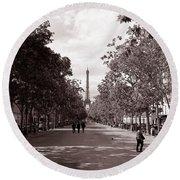 Classic Paris 10 Round Beach Towel