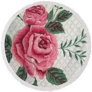 Classic Rose Round Beach Towel