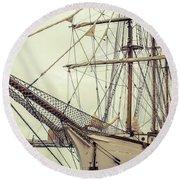 Classic Sail Ship Round Beach Towel