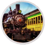 Classic Steam Train No 29 Round Beach Towel