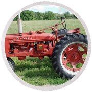 Classic Tractor Round Beach Towel