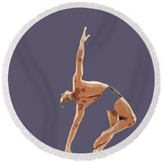Classical Ballet Dancer Round Beach Towel