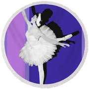 Classical Ballet Round Beach Towel