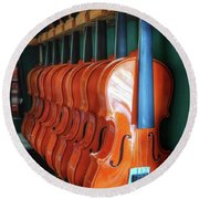 Classical Violins Round Beach Towel