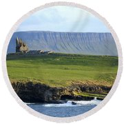Classiebawn Castle, Mullaghmore, Co Round Beach Towel