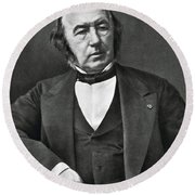 Claude Bernard, French Physiologist Round Beach Towel by Photo Researchers