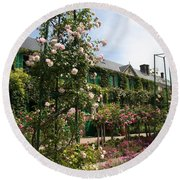 Claude Monets House  - Giverney - France Round Beach Towel
