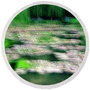 Claude Monets Water Garden Giverny 1 Round Beach Towel
