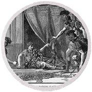 Claudius And Guards Round Beach Towel