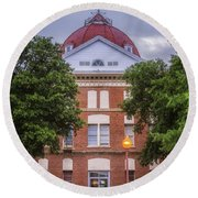 Clay County Courthouse Round Beach Towel