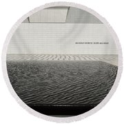 Clean Abstract Lines Of The Aga Khan Museum Facade With Black Po Round Beach Towel