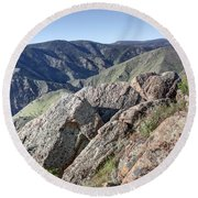 Clear Creek Canyon Round Beach Towel