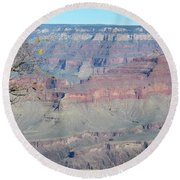 Clear Day At The South Rim Round Beach Towel